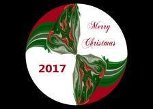 Esfera 2017 de la Feliz Navidad ilustración del vector
