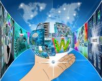 Esfera de la información Imagenes de archivo