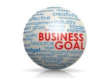 Esfera de la meta de negocio Imagen de archivo libre de regalías