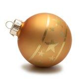 Esfera de la Navidad del oro foto de archivo libre de regalías