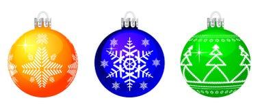 Esfera de la Navidad del vector. Fotografía de archivo