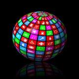 Esfera de las multimedias Foto de archivo libre de regalías