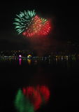 Esfera de los fuegos artificiales del ` s Eve del Año Nuevo Fotografía de archivo