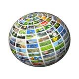 Esfera de los multimedia Foto de archivo