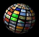Esfera de los multimedia Fotografía de archivo