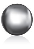 Esfera de metal de prata Foto de Stock Royalty Free