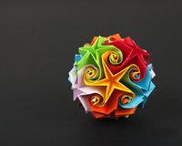 Esfera de Origami Fotos de Stock Royalty Free