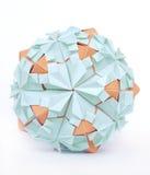 Esfera de Origami Imagens de Stock