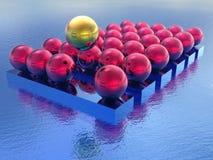Esfera de oro flotante Imagen de archivo