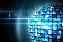 Esfera de pantallas digitales en azul