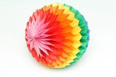 Esfera de papel del color Fotos de archivo libres de regalías