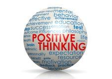 Esfera de pensamiento positiva ilustración del vector