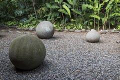 Esfera de piedra precolombina antigua de Costa Rica imagen de archivo libre de regalías