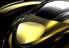Esfera de plata en el metall de oro 01 ilustración del vector