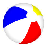 esfera de praia 3D isolada no fundo branco Fotografia de Stock Royalty Free