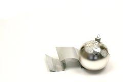 Esfera de prata do Natal Imagem de Stock