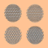 Esfera de quatro zentangle Imagem de Stock