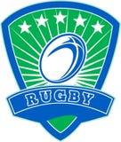 A esfera de rugby stars o protetor Fotografia de Stock