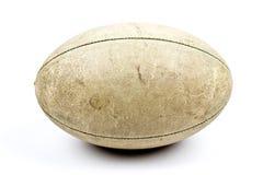 Esfera de rugby velha Fotos de Stock Royalty Free