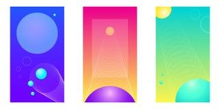 Esfera de tres contextos del teléfono stock de ilustración