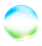 Esfera de vidro Fotografia de Stock Royalty Free