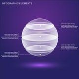 Esfera de vidro infographic ilustração royalty free
