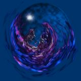 Esfera de vidro mágica Imagens de Stock