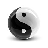 Esfera de Yin e de Yang Imagem de Stock