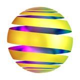Esfera decorativa de la bola de oro del ornamento Fotografía de archivo