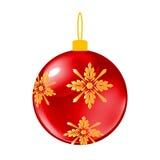 Esfera decorativa do Natal vermelho Imagens de Stock Royalty Free