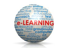 Esfera del aprendizaje electrónico Imagen de archivo libre de regalías