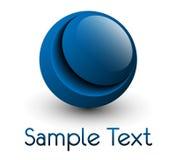 Esfera del azul de la insignia Imagen de archivo libre de regalías
