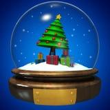 Esfera del cristal de la Navidad Foto de archivo libre de regalías