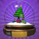 Esfera del cristal de la Navidad Fotos de archivo libres de regalías