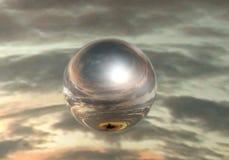 Esfera del espejo Imagen de archivo libre de regalías