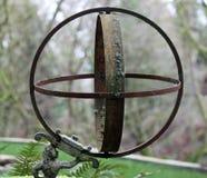 Esfera del jardín del metal Imágenes de archivo libres de regalías