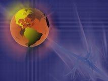Esfera del mundo, espacio virtual. stock de ilustración