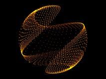 Esfera del oro y fondo negro Fotografía de archivo libre de regalías