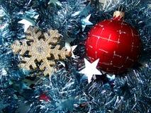 Esfera del vidrio de la Navidad Fotografía de archivo