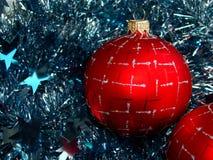 Esfera del vidrio de la Navidad Fotografía de archivo libre de regalías