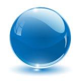 esfera del vidrio del vector 3D stock de ilustración
