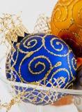 Esfera do azul do Natal Imagem de Stock
