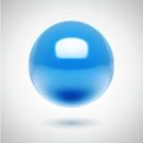 esfera do azul do vetor 3d Imagens de Stock Royalty Free