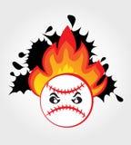 Esfera do basebol no incêndio ilustração royalty free