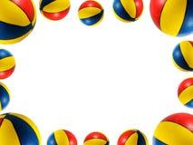 Esfera do basquetebol da praia Imagens de Stock Royalty Free