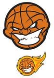 Esfera do basquetebol Personagem de banda desenhada irritado Imagem de Stock