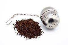 Esfera do chá e de chá do aço inoxidável imagem de stock royalty free