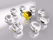 Esfera do cristal e do ouro Fotografia de Stock
