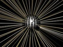 Esfera do disco com as luzes sparkling que refletem. Foto de Stock Royalty Free