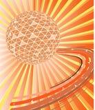 Esfera do disco com ondas Foto de Stock